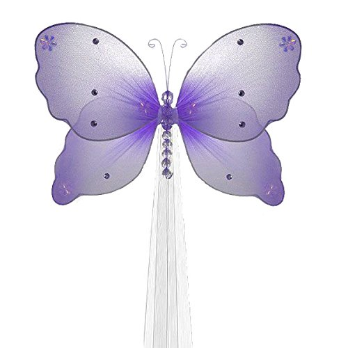 The Butterfly Grove Isabella Butterfly Curtain Tieback For Baby Purple Wisteria Small 5 X 4