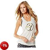 Zumba Fitness Burn It Up Bubble - Top da donna, Bianco (Bianco), M