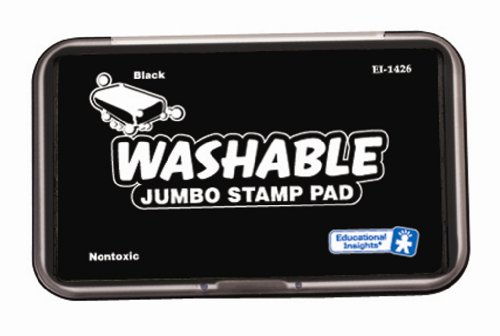 Educational Insights Jumbo Washable Stamp Pad- Black (Non Toxic Stamp Pad compare prices)