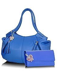 Butterflies Handbag Blue and Blue (BNS CB002)