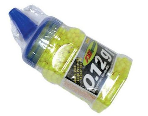 TSD Sports 1,000 ct. Feeder Bottle Plastic Yellow Airsoft BBs (6mm, 0.12g)