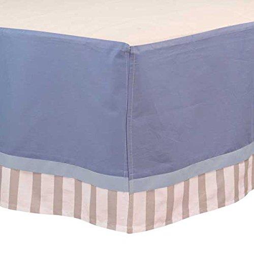 BreathableBaby Cotton Crib Skirt, Blue/Grey