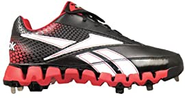 Reebok J82784 Pro Cooperstown Low Zig Men's Baseball Cleats (Black/Red)