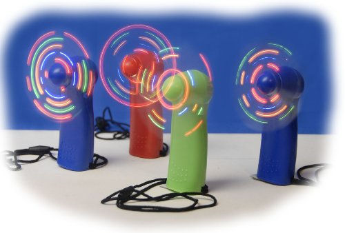 WeGlow International Light Up Fan (4 pack, colors may vary)