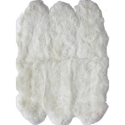 nuLOOM NSSX01 Sheepskin Collection Luxe Shag and Flokati Contemporary Hand Made Area Rug, Sexto Pelt, Natural