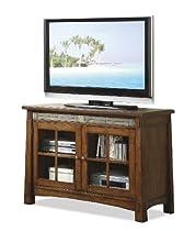 Big Sale Craftsman Home 45 in. TV Console in Americana Oak Finish