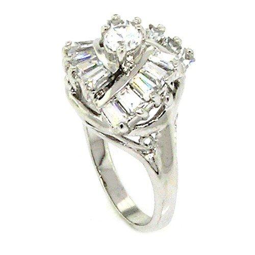 Classic Engagement Ring w/Round Brilliant White CZ Size 9