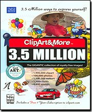 Clipart&more 3.5 Million Clipart Fonts Photos & More [Old Version]