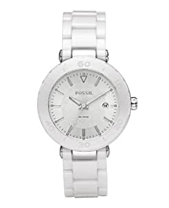 Fossil Women's CE1030 Ceramic Silver Dial Watch