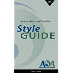 American Sociological Association Style Guide cover image