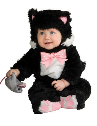 Baby-Toddler-Costume Inky Black Kitty Toddler Costume 12-18 Mos Halloween