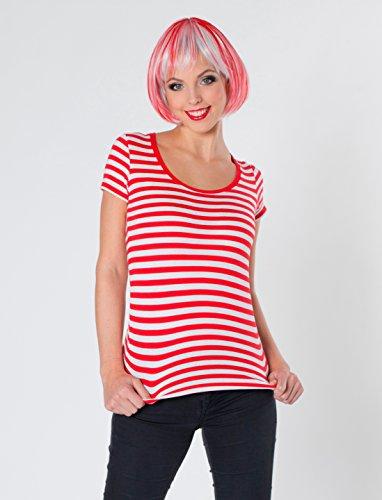 Deiters Lady-Ringelshirt rot/weiß L