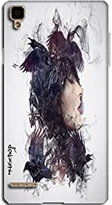 Premium Quality Mousetrap Printed Designer Full Protection Back Cover for Oppo F1