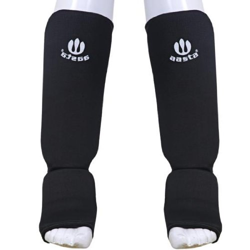 Fitness Gear Black SM Shin Instep leg Foot Guard Protection MUAY Thai Kick Boxing MMa Training shin pads