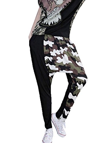 Women Baggy Camouflage Pants Casual Loose Hippie Hip-Hop Trouser