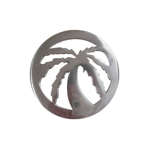 MARIJUANA LEAF/PALM TREE CIRCLE Belt Buckle
