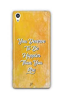 YuBingo You Deserve to be Happier than you are Designer Mobile Case Back Cover for Sony Xperia Z5 Premium