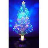 クリスマスツリー ブルーLEDファイバーツリー サイズ:高さ210cm (クリスマスイルミネーションled クリスマスツリー led クリスマスツリー ホワイト ファイバーツリー)