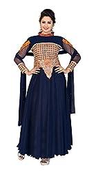 Manvaa Women's & Girls' Party Wear Floor Length Gown with Dupatta