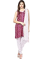 Soundarya Ethnicwear Lehariya Design Salwar Dress Material for Women