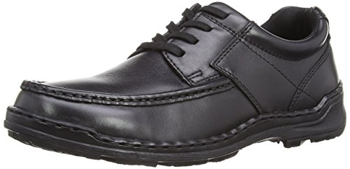 Hush Puppies Ground Oxford, Scarpe Stringate da Uomo, Colore Nero (Black Leather), Taglia 43 EU (8 UK)