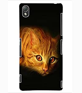 ColourCraft Cat Look Design Back Case Cover for SONY XPERIA Z3