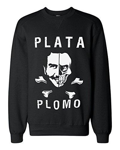 strange-narcos-plata-o-plomo-artwork-classic-sweatshirt-extra-large