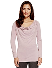 Per Una Modal Blend Cowl Neck Drape Top