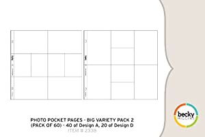Photo Pocket Pages - Big Variety Pack 2 (60 Pages)