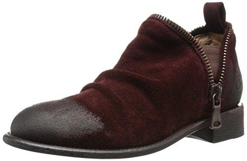 John Fluevog Women's Evers Boot, Burgundy, 9 M US