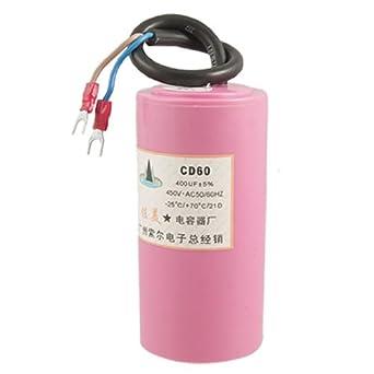 CD60 Aluminum Electrolytic Water Pump Capacitor 400uF 5% AC 450V