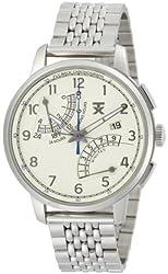 TX Men's T3C197 Classic Fly-Back Chronograph Steel Case Bracelet Beige Dial Watch