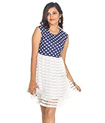 Young Trendz Polka Dot & Mesh Dress