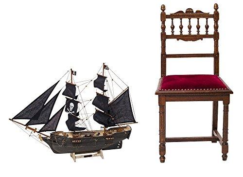 "Pirate ship model - ornamental model ship - wood - 2'7"" (78cm)"