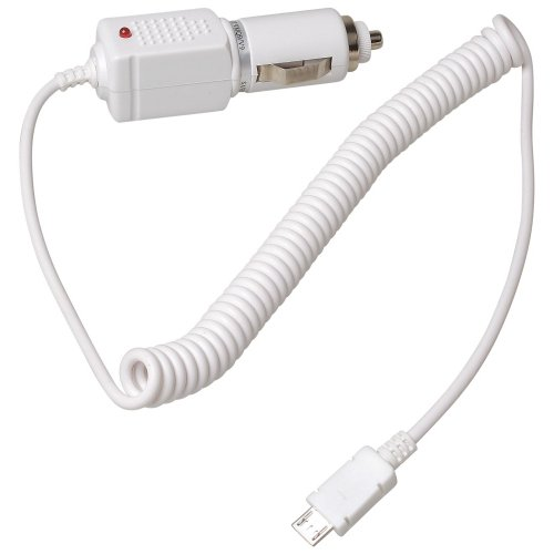 KFZ Ladekabel Auto Ladeger&#228;t Kabel Autoladekabel micro USB weiss f&#252;r LG KF750 GT505 BL40 New Chocolate GD900 GW300 BL20 newchocolate GT500 GW620 GD510 Pop GM750 GD880 Mini GD910 GM730 GS500 Cookie Plus GW520 KM570 Arena II KT770 KF757 GT540 Optimus GS290 Cookie Fresh GT350 Town GR500 Xenon LX265 Rumor2