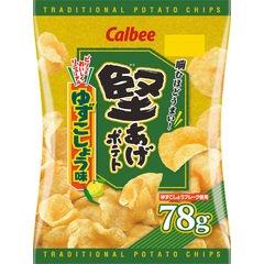 カルビー 堅あげポテト ゆずこしょう味 78gX12袋(一箱)