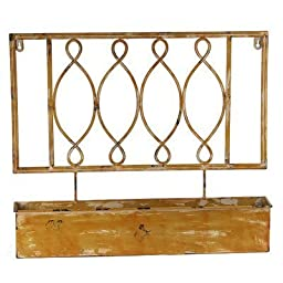Privilege International 18372 Iron Wall Planter by Privilege