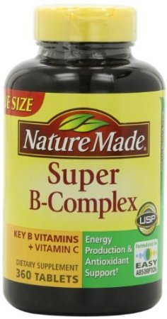 Nature Made Super B Complex Tablets, Value Size, 360 Count