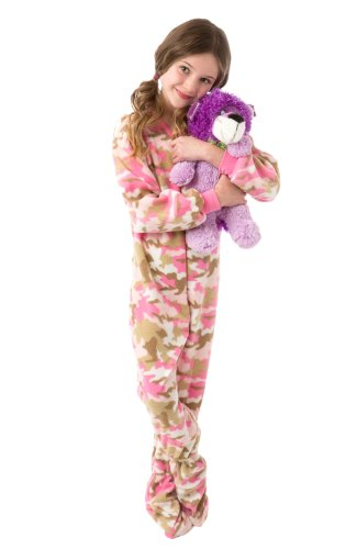 Big Feet Pjs Infant - Toddler Pink Camo (504) Fleece Footed Pajamas 12M - 4T (4T) front-553984