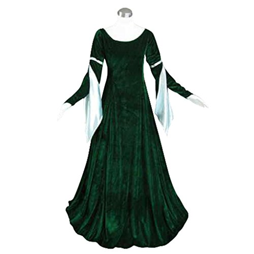 [CosplayItem Medieval Dress Cosplay Costume Velvet Dress Ball Gown Dark Green] (Medieval Fancy Dress Plus Size)