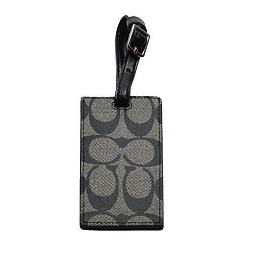 (コーチ) COACH シグネチャー ネームタグ スーツケース用 (ブラック/グレー)並行輸入品