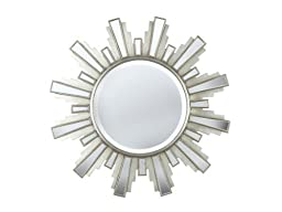 Kenroy Home Francisco Wall Mirror with Black Finish, 39-Inch Diameter by Kenroy Home