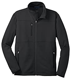 Port Authority F222 Pique Fleece Jacket - Black - 4XL