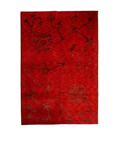 CarpeTrade Alfombra Soft Silk Nepal Rojo/Negro