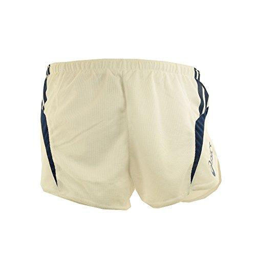 ASICS Shorts uomo atletica running slip interno MILES bianco e blu navy T474Z6