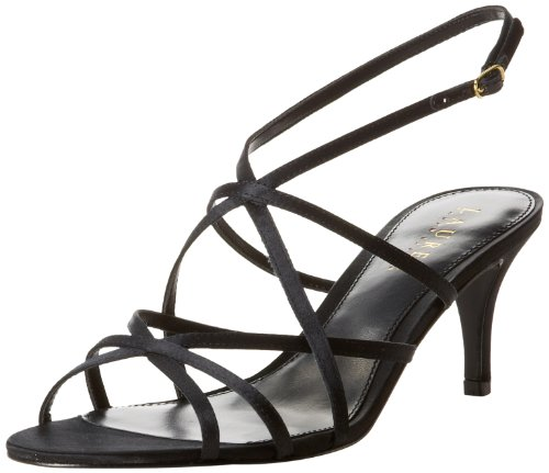 Lauren Ralph Lauren Women'S Neve Dress Sandal,Black,7 B Us