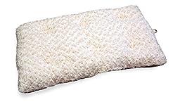 Furhaven Pet Curly Fur Plush Pillow, Latte, Fits: 28\