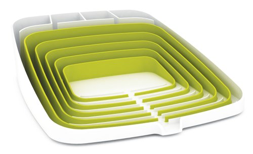 Joseph Joseph Arena Self-Draining Dishrack, White and Green