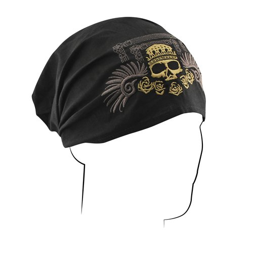 ZANheadgear Golden Skull Highway Honey Headwrap