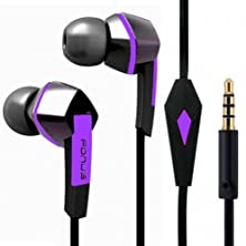 buy Premium Sound Earphones Hands-Free Tangle Free Flat Wired Purple/Black Headset Dual Earbuds With Microphone For Sprint Samsung Galaxy Note 2 Sph-L900 / Note 3 (Sm-N900P), Sprint Samsung Galaxy Note 4 Sm-N910P, Sprint Samsung Galaxy Note Edge Sm-N915P, Spr
